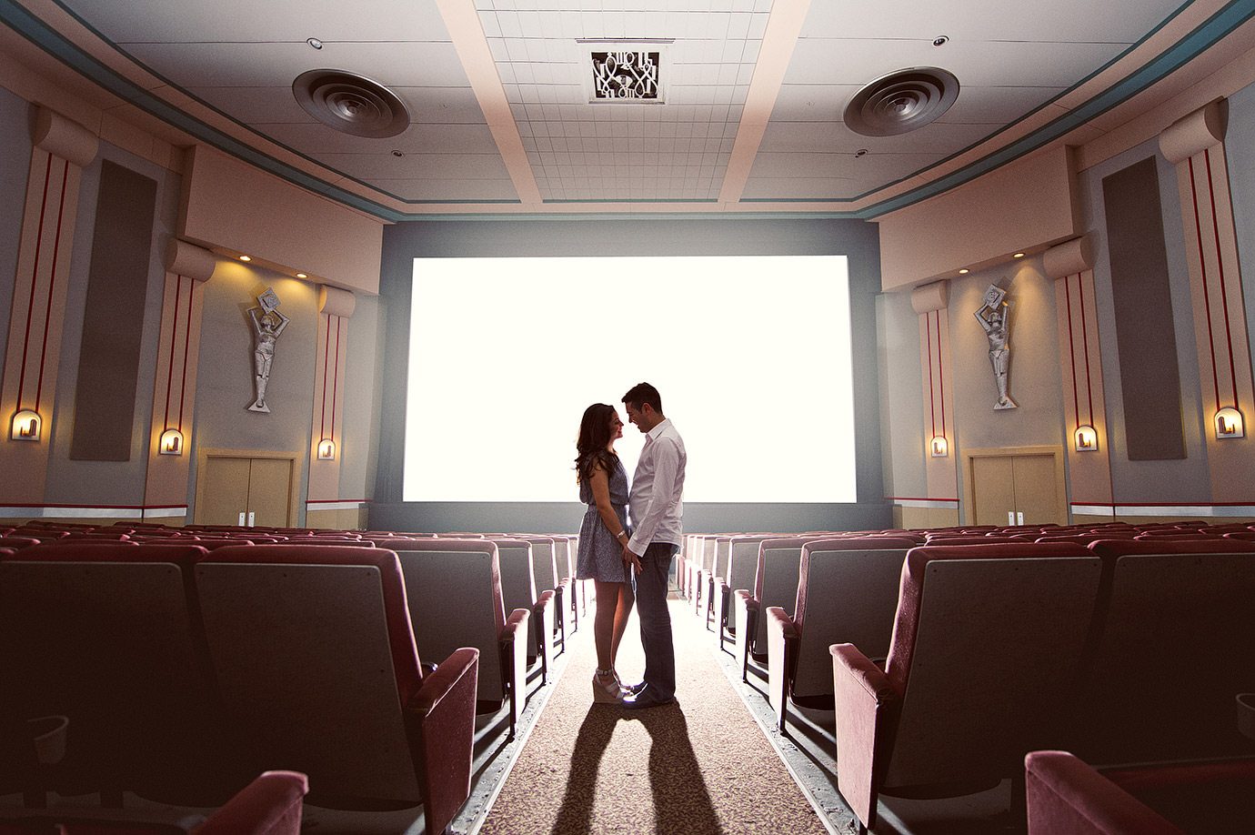 Were Engaged  Lets Go to the Movies  Wedding Photographers  Cooked Photography  Halifax