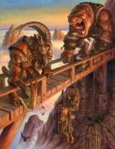 fantasy, troll, giant, ogre, goats, gruff, armor, d and d