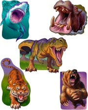 Roar stickers for Peaceable Kingdom by Jeff Crosby