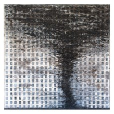 Tornado #9 - Cradled Wood Panel - 35mm Slides - Gesso - Charcoal - Graphite - Conte Crayon - Cinders - Ash - 48x48x1 inches - 2016