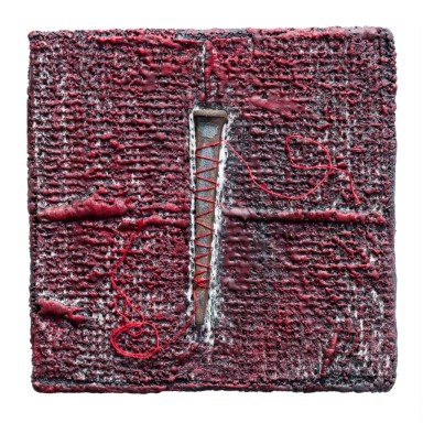 Encaustic - 35mm Slides - Nail - Thread - 4x4x1 inches - 2016