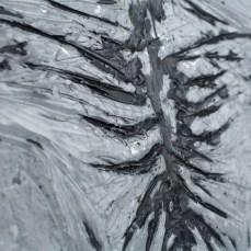 Figure #8 - Detail - Cradled Wood Panel - Encaustic - Cinders - Ash - 24x24x1 inches - 2017
