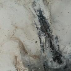 Figure #13 - Detail -Cradled Wood Panel - Encaustic - Cinders - Ash - 24x24x1 inches - 2017