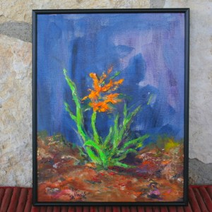 Tiger Lilly, 11x14, Oil, $125
