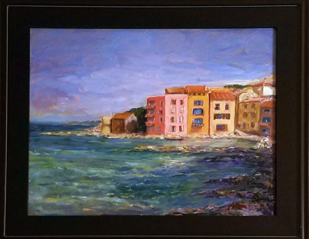 San Tropez, Father and Son, Oil, 16x20, $550