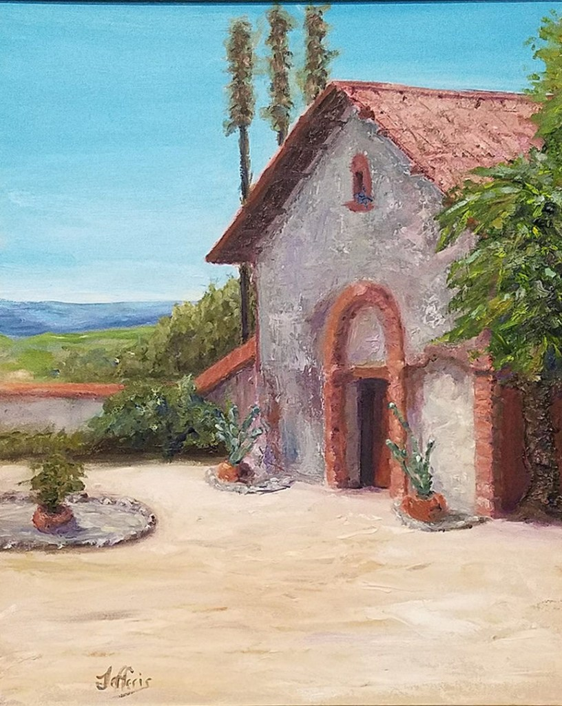 California Mission, $450, Oil, 16x20