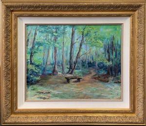 Rock Creek Park, TN: The Lonesome Bench  16x20 - Oil - $550