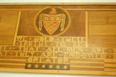 Patriotic wood marquerty by Aimee Gorman