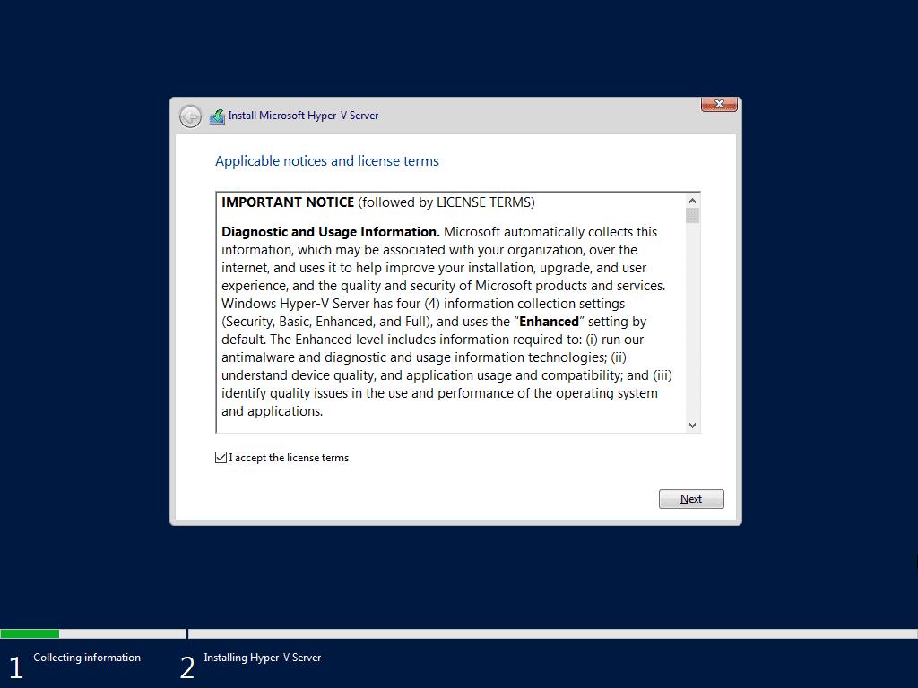 Instalando o Hyper-V Server 2019