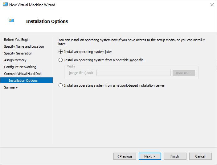 Criando uma VM no Hyper-V 2019