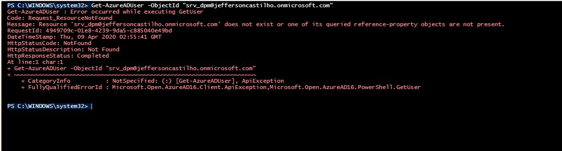 Remover user sincronizado AD Office365