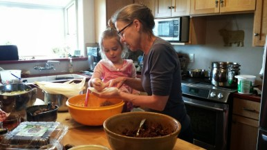 Preparing food for the Modoc County one-day holistic management workshop by the Jefferson Center