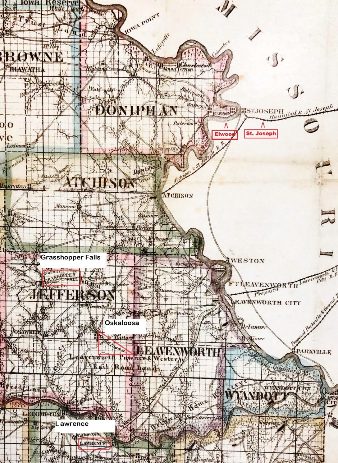 Missouri-Kansas Border War – Jefferson County Jayhawkers and ... on road map of kansas, antique map of kansas, large map of kansas, physical map of kansas, radon map of kansas, blank map of kansas,