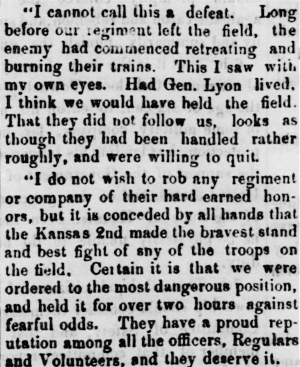 2nd reg bravery from Leav T, The_Oskaloosa_Independent_Sat__Aug_31__1861 p1