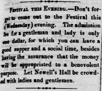 Newell's Hall ME festival The_Oskaloosa_Independent_Wed__Oct_10__1860_