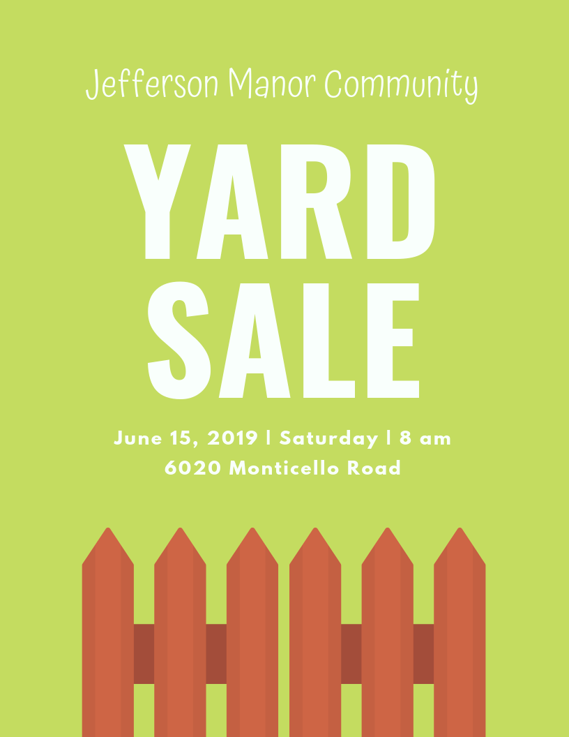 JMCA Community Yard Sale – Benefiting The Red Cross