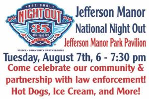 National Night Out at Jefferson Manor Park @ Jefferson Manor Park | Alexandria | Virginia | United States