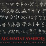 alchemist symbols vector pack