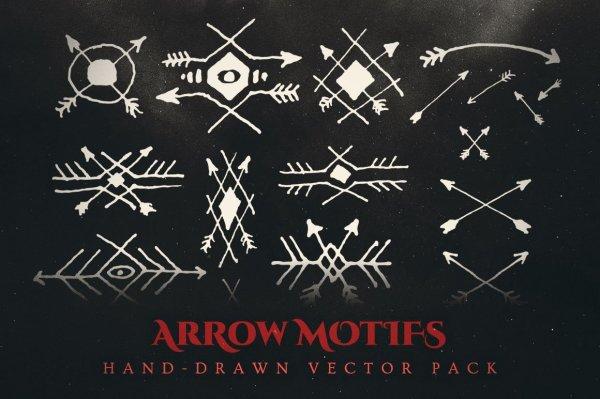 arrow motifs vector illustrations