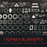 occult frames and shapes vector graphics