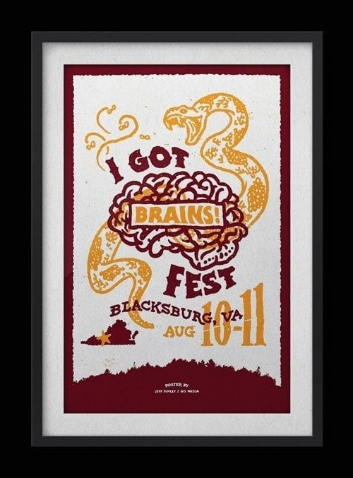 I Got Brains Fest – Gigposter