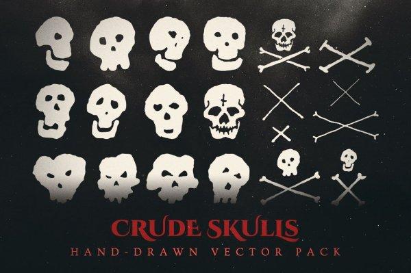 crude skulls vector graphics