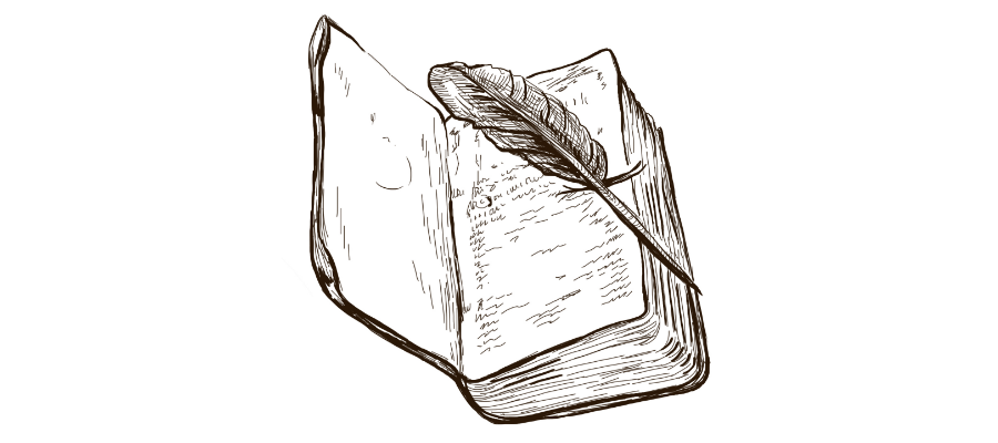 Book Quill illustration