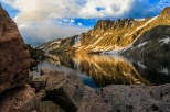 Morning reflection on Glacier Lake