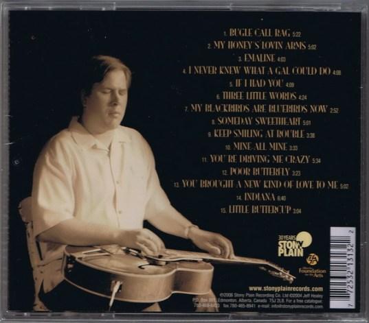 Back Cover (Stony Plain Release)