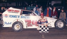 """""""The Jeffer"""" and son Jeff Jr. in victory lane at OCFS."""