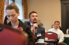 Audience participation at KM conference in Moscow