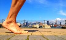 Barefoot Running Feet Side View
