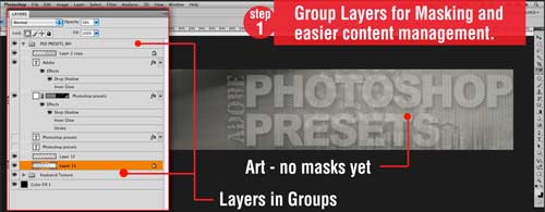 Photoshop Techniques: Get control over Layers & Groups with Vector Masks