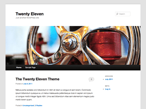 WordPress Twenty Eleven child theme progress