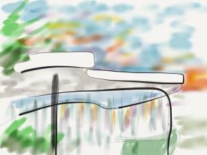 Oscar Niemeyer Sketch