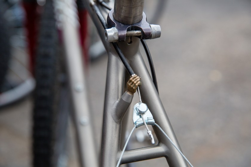 The original Ibis Handjob cable hanger.