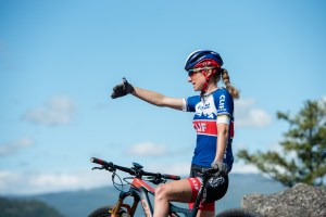 Olympian Catharine Pendrel on her mountain bike