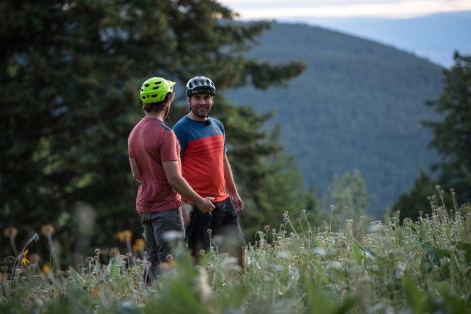 bikers, twilight, mountain biking, Canada