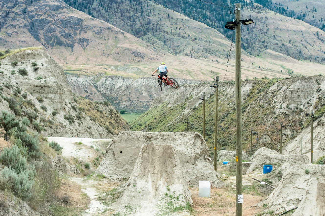 Mountain biker Jeff Kendall-Weed in Kamloops, B.C.