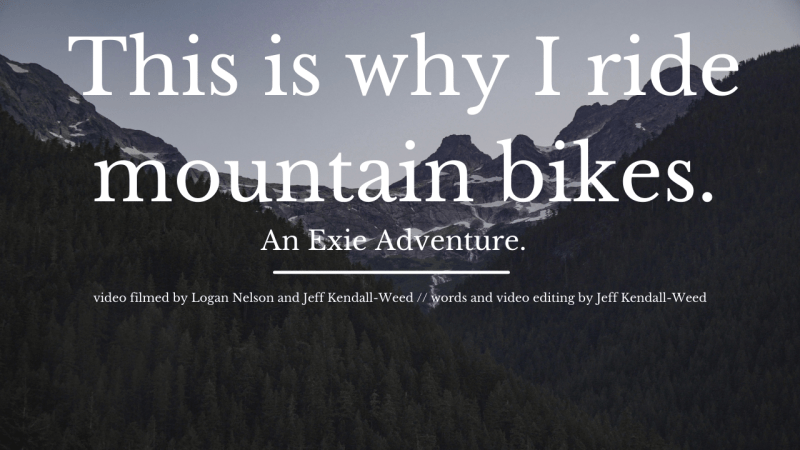this is why i mountain bike