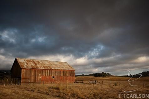 Petaluma Barn, Sunset