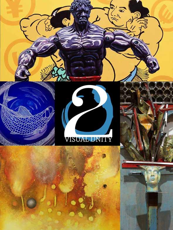 Jeff League mixed media collaborative exhibition - Visual Unity 2