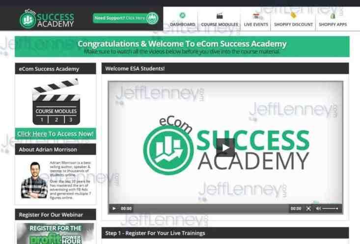 eCom Success Academy Members Area