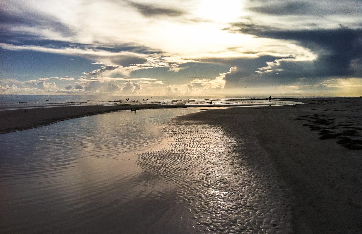 Low Tide  Texas Landscape Photography