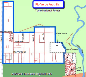 streets and roads in Rio Verde Foothills