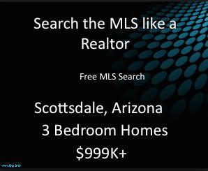 milllion dollar 3 bedroom homes scottsdale arizona,million dollar homes arizona mls