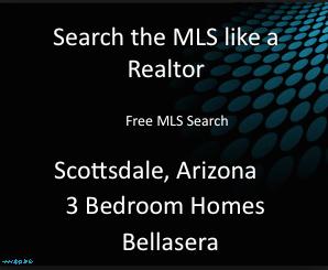 Free MLS Search 3 Bedroom Homes Bellasera Scottsdale Arizona