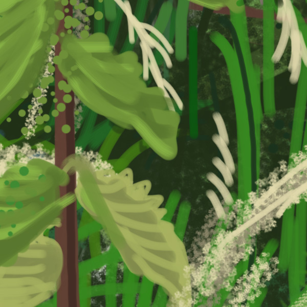 detail of Back to Oldstead, ipad drawing