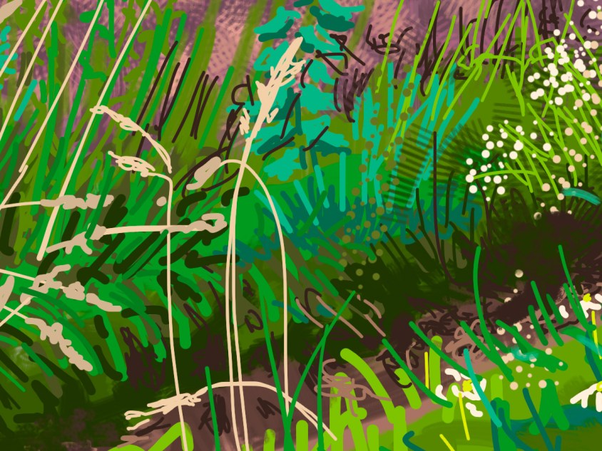 a detail from Oulston Woods