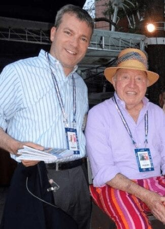 With the legendary Bud Collins.